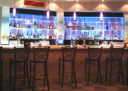 Basement Bar Accessories Lit Backbar Walls