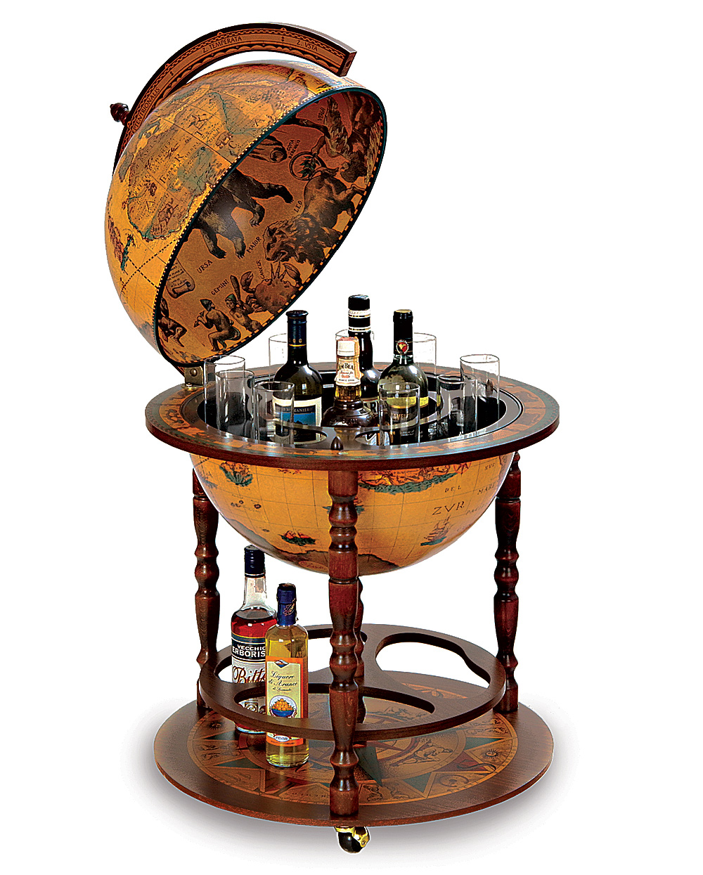 Basement Bar Design Accessories #9: Global Domination