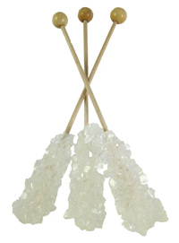 swizzle sticks made from rock candy