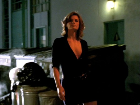 Stana Katic as Kate Becket, inpsiration for Nikki Heat, sexy in alley