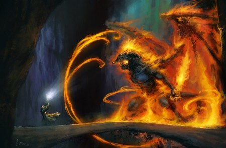 Gandalf Battling the Balrog