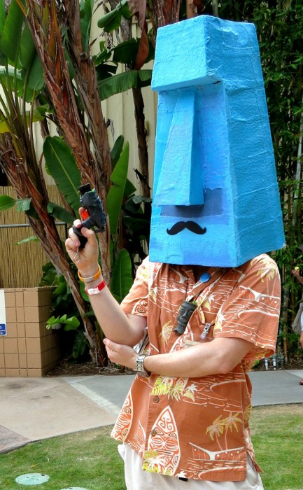 Blue Tiki head