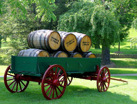 Maker's Mark Barrel Distribution Wagon
