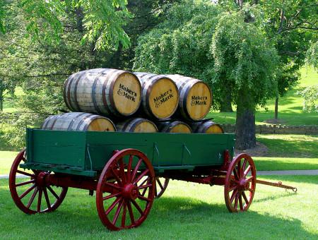Maker's Mark Barrel Distribution Wagon