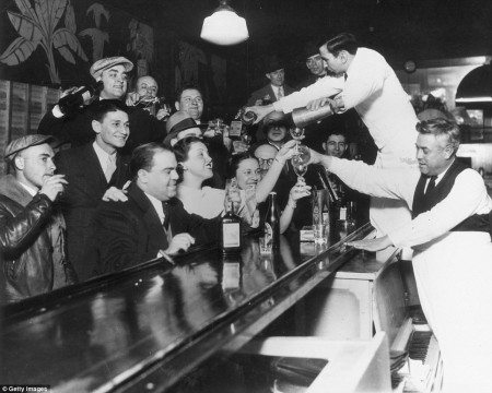 Repeal Day celebrated by women along with men in public bars