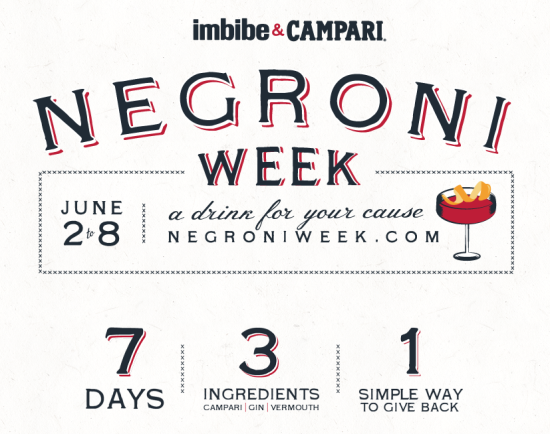 Negroni Week: A Drink for Your Cause